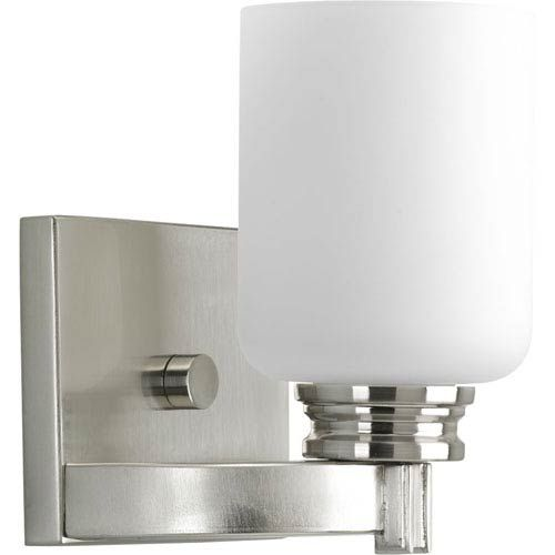 Photo of Progressive lighting P3030-09 P3030-09: Orbit one-light bathroom fitting made of brushed nickel – brushed, contemporary and modern | Bellacor