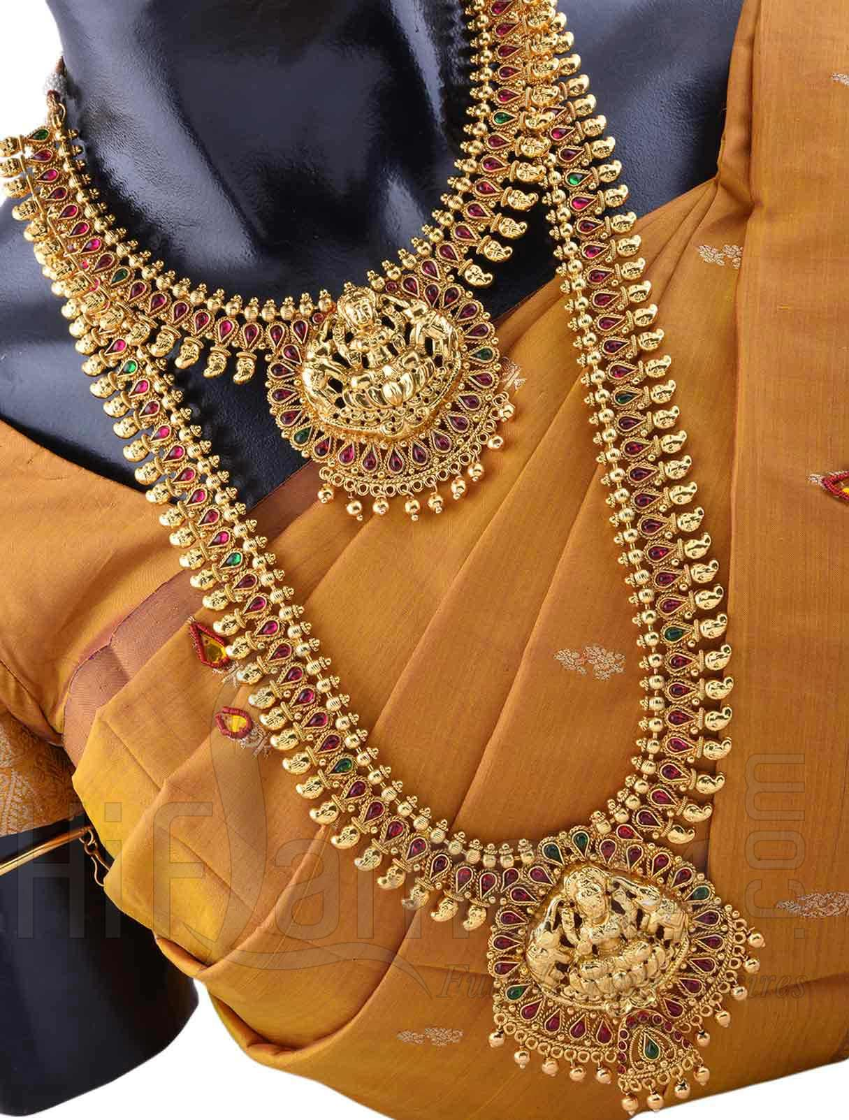 Wedding Jewellery Set with Ashta Lakshmi Design Heavy Bridal Sets