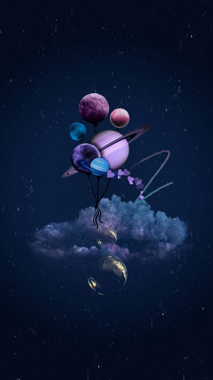Planet balloons wallpaper by safinazsupti - 8c1c - Free on ZEDGE™