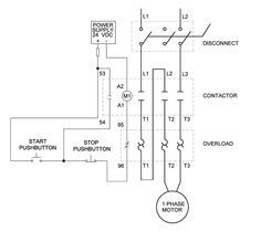 Single phase motor control wiring diagram electrical engineering single phase motor control wiring diagram electrical engineering world cheapraybanclubmaster Choice Image