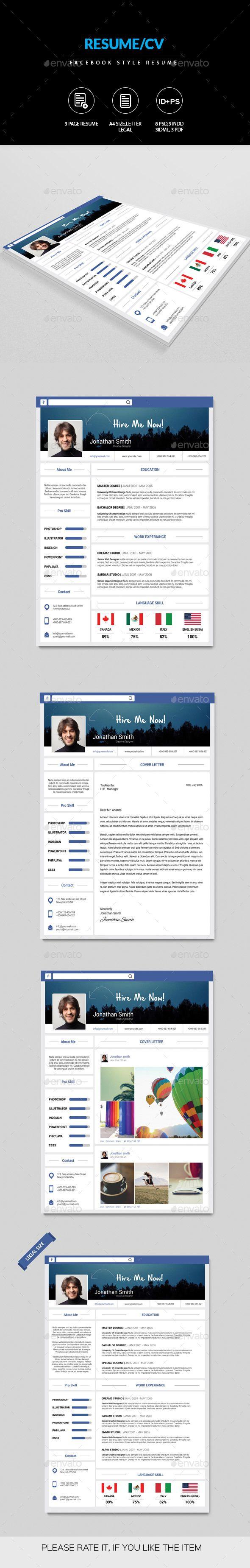 Creative Facebook Style Resume Facebook Style Teacher Resume Template Resume Design Template