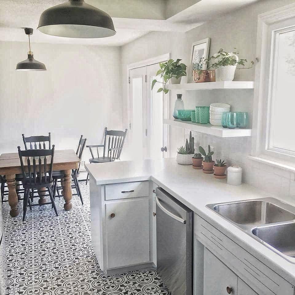 Polanka Tile Stencil | Cottage kitchen tiles, Painting ...