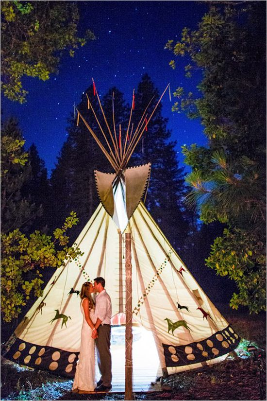 Enchanting Backyard Teepee Wedding : teepee tent wedding - memphite.com