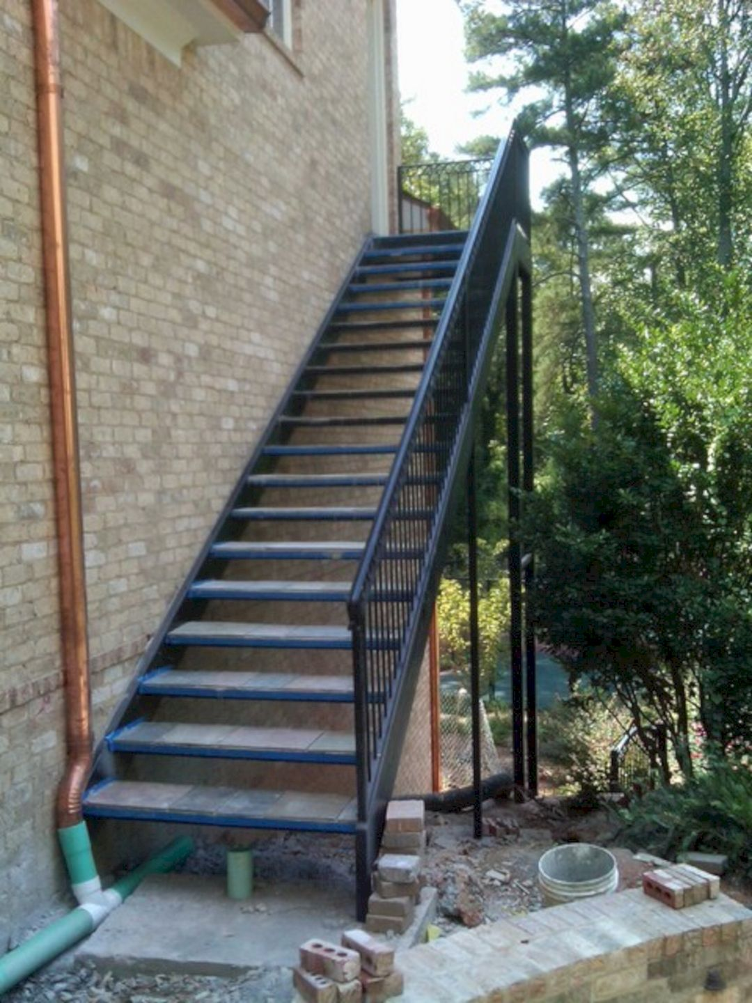 Incredible 8 Outdoor Stairs Design Ideas For Your Home Freshouz   Iron Steps For Home   Banister   Railing   Near Me Handrail   Manufactured Home   Mobile Home