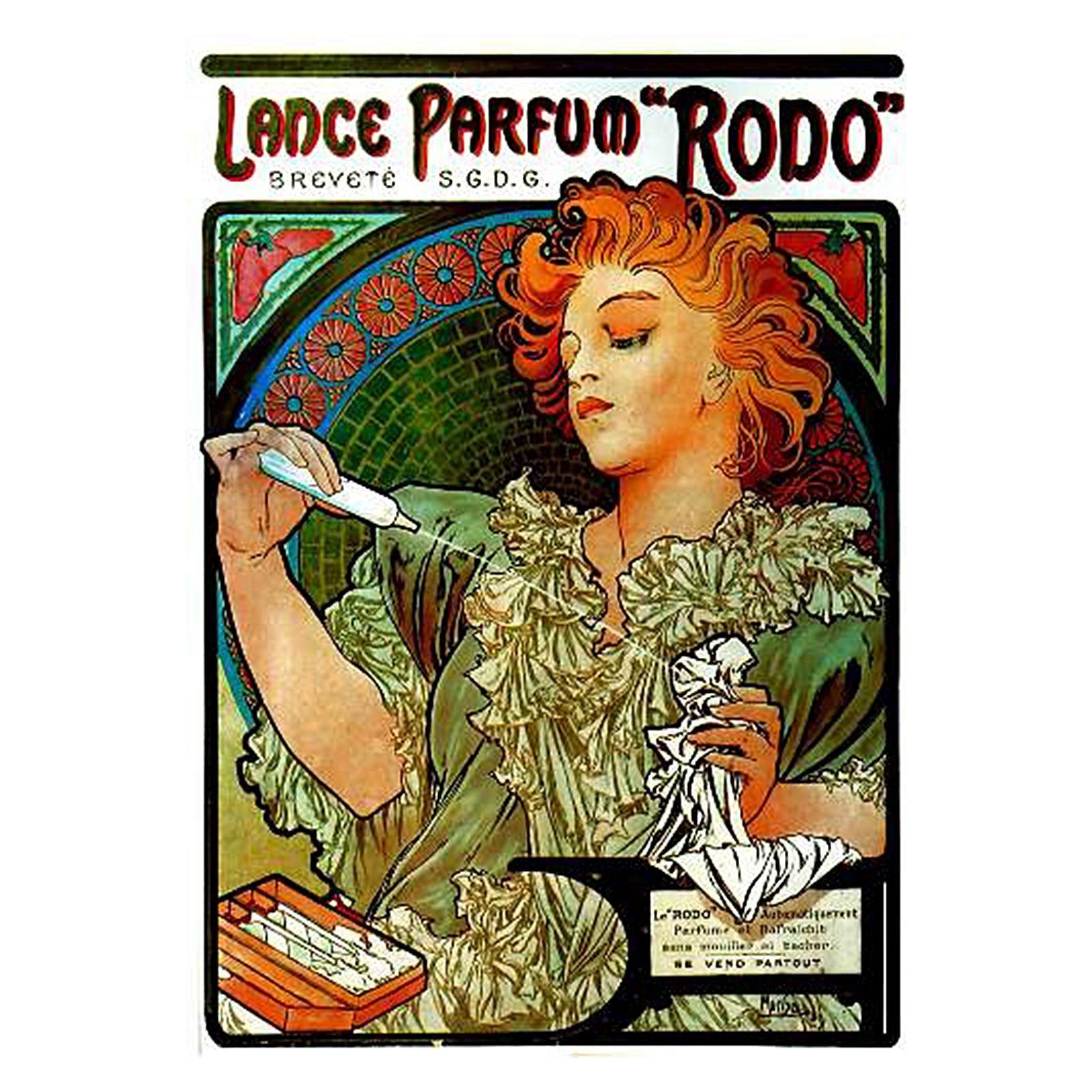 Lance Parfum Canvas Print By Hoxton Art House Alphonse Mucha Art