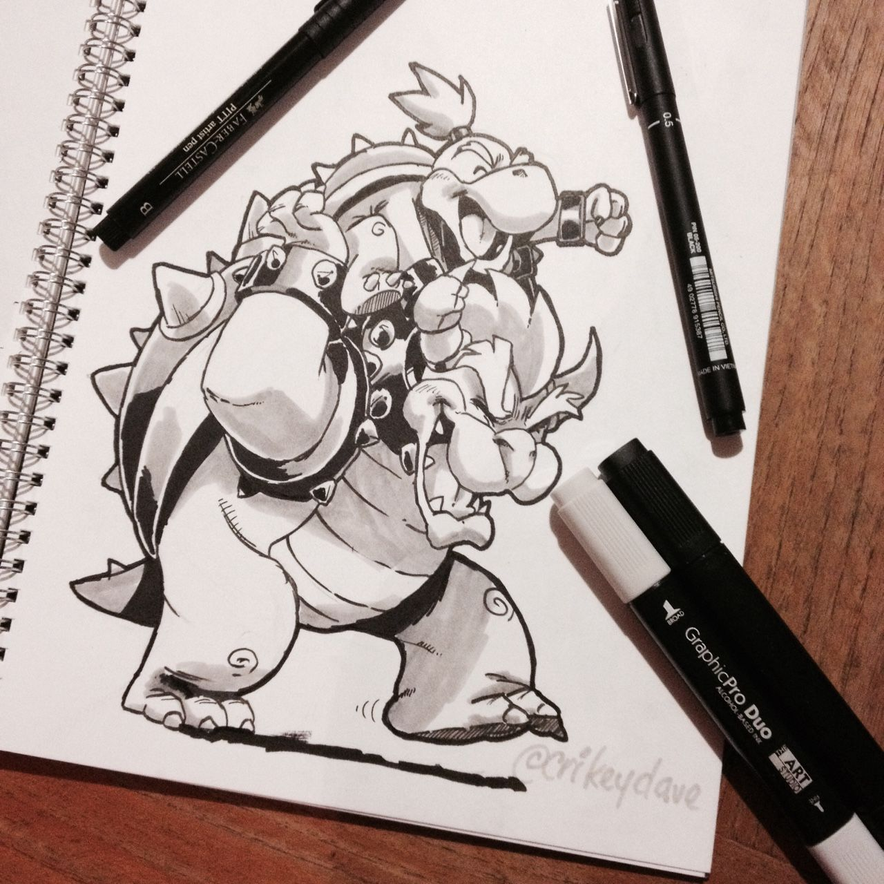 A father son moment with Bowser and Bowser Jr. \'Daww | Bowser ...