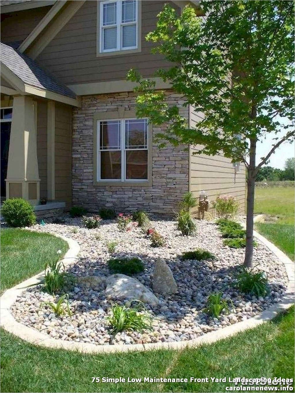 75 Simple Low Maintenance Front Yard Landscaping Ideas Stone Landscaping Backyard Landscaping Rock Garden Landscaping