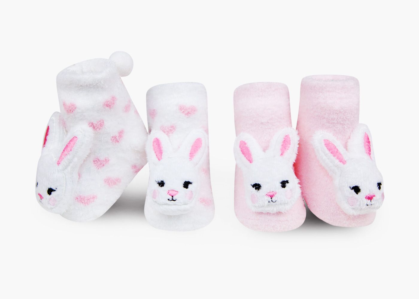 Baby booties Rabbit with rattle plush Infant Shoes 0+