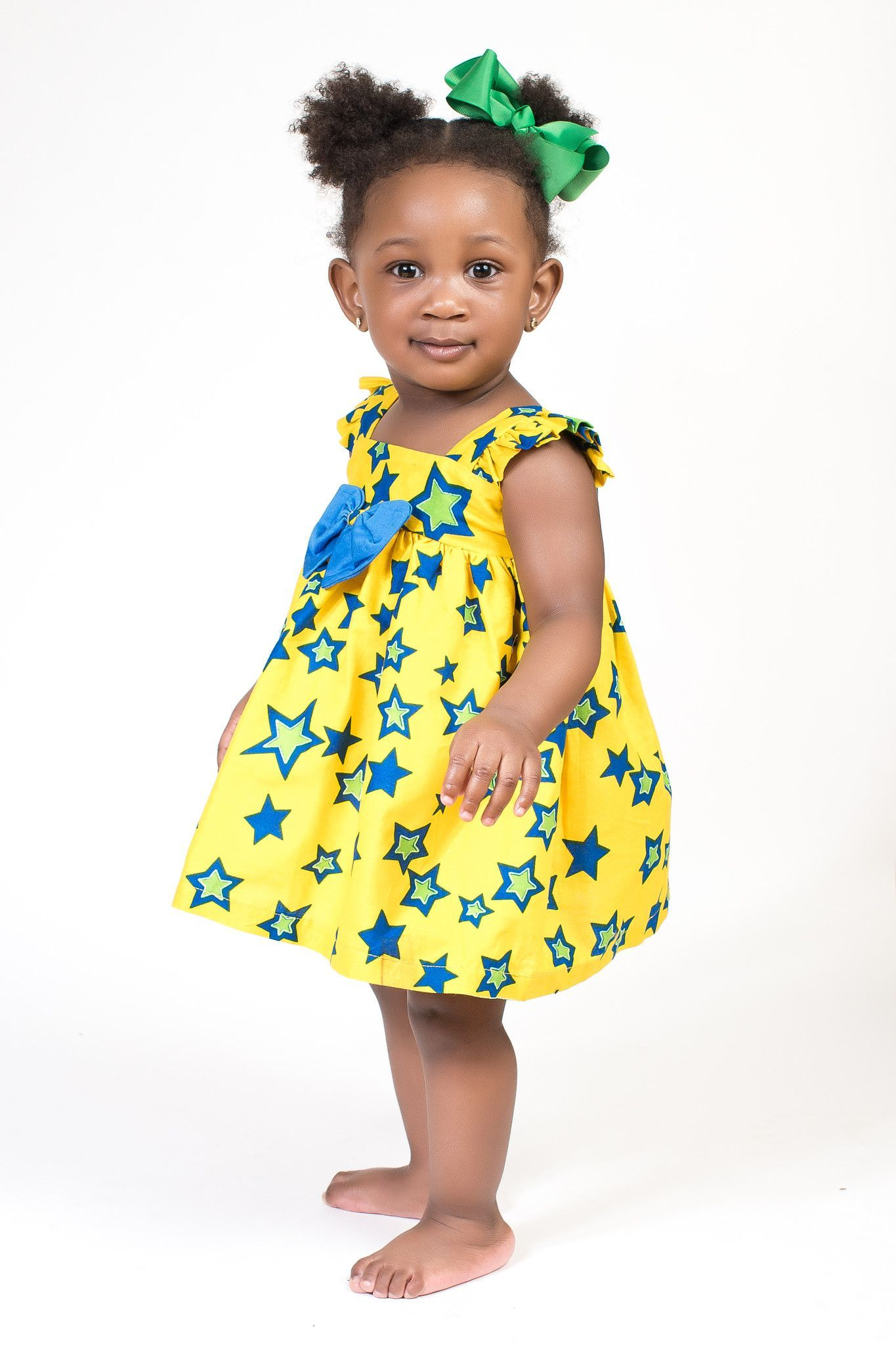 fe25e023c2ae7 Pretty Stars - Yellow/Blue | traditional baby clothes | African ...
