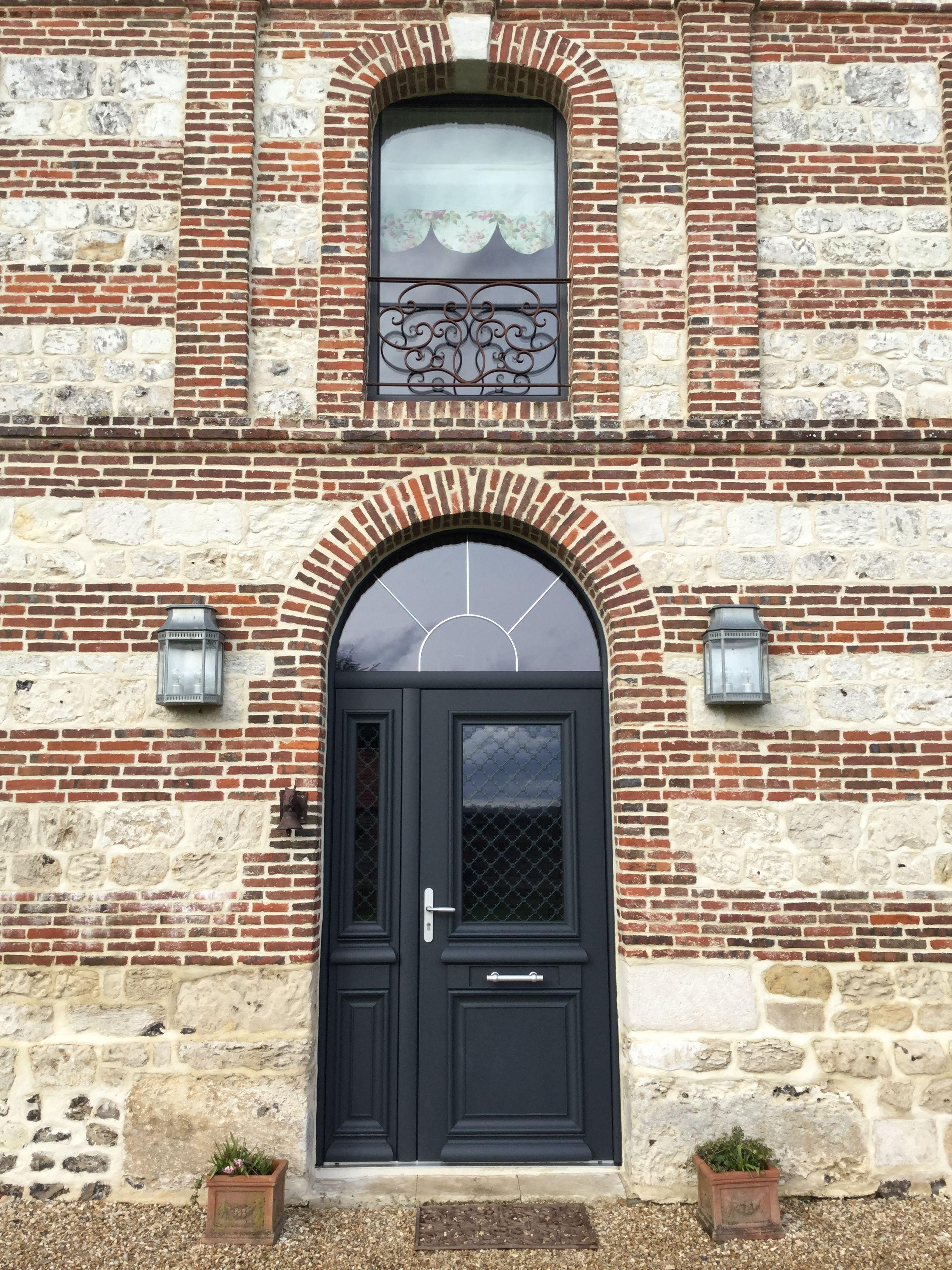 porte dentre double battant aluminium blem athena maison de normandie - Porte D Entree Double