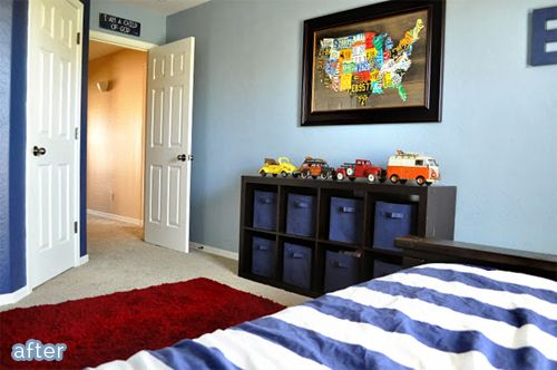 Clic Boy Bedroom Makeover With Diy License Plate Art Featured On Betterafter