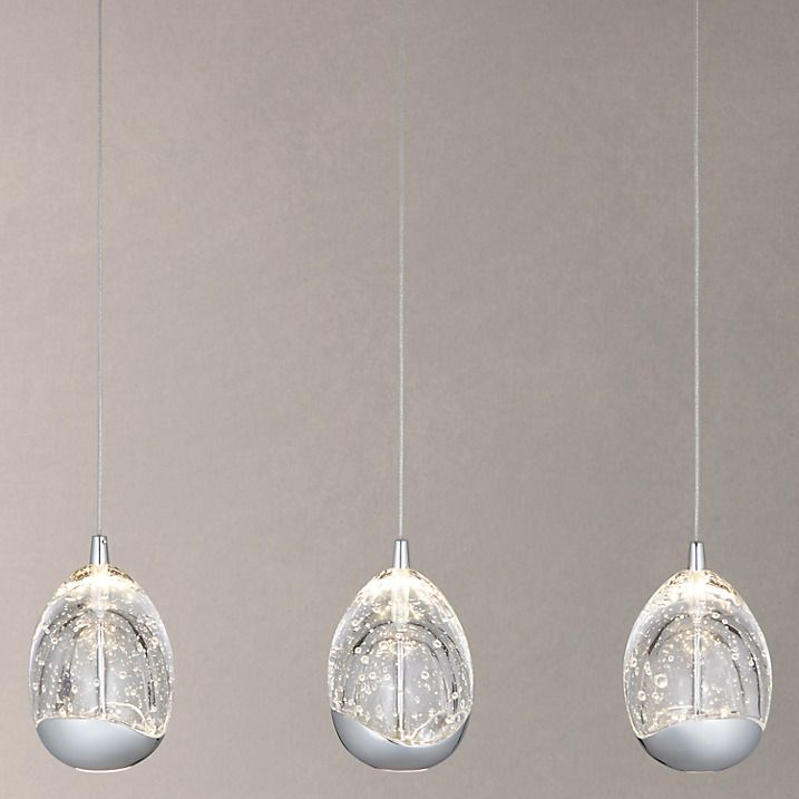 Buy John Lewis 3 Droplet LED Pendant Ceiling Light Chrome Online At Johnlewis