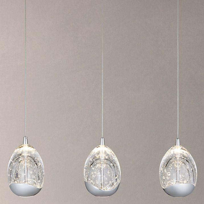 Buy John Lewis 3 Droplet LED Pendant Ceiling Light, Chrome
