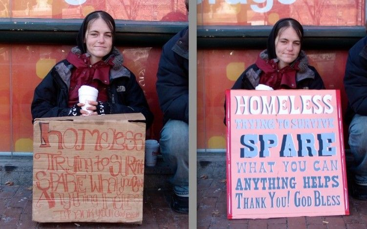 Signs For The Homeless Art Project Sheds Light On Boston Problem Hand Painted Logo Social Impact Design Homeless