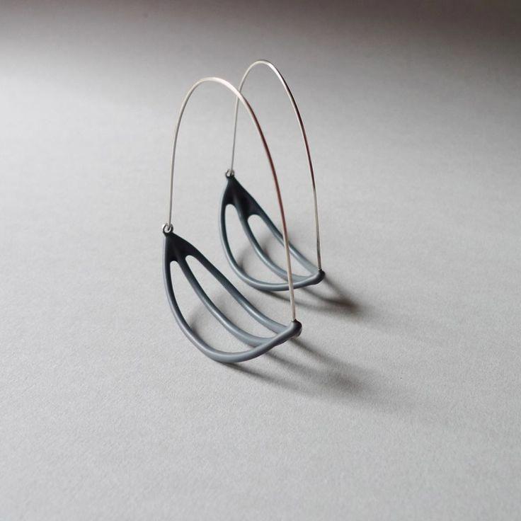 Photo of Pendulum Earrings in 14k Rose Gold-Fill, Circle Stud earrings, rose gold fill earrings, rose gold stud, Art Deco Studs, drop earring – Fine Jewelry Ideas