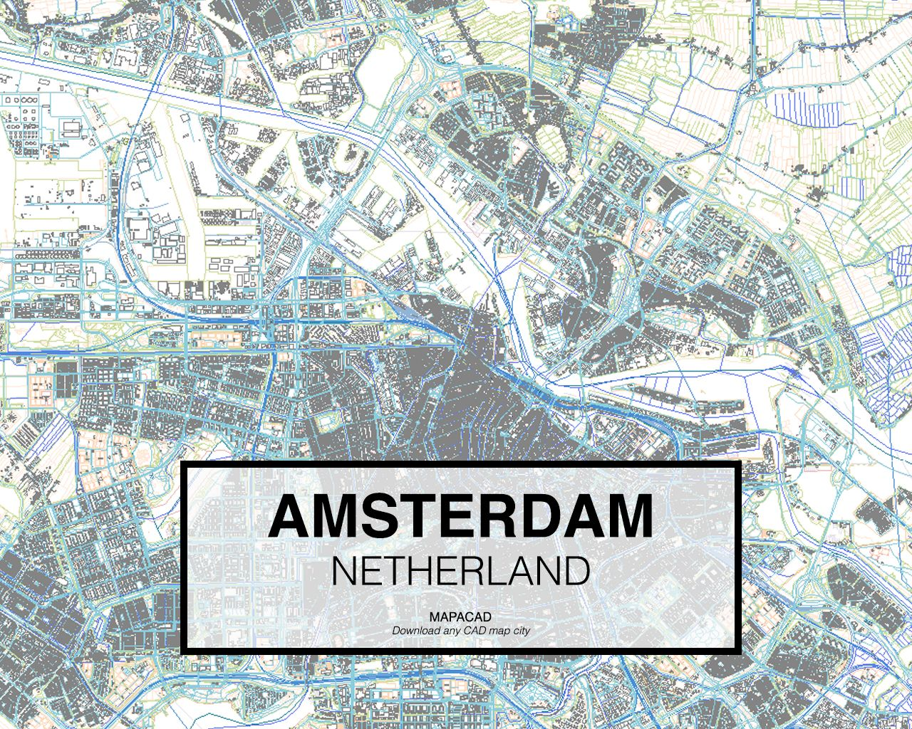 Amsterdam Netherland. Download CAD Map city in dwg ready to use in ...