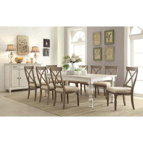 Found it at Wayfair Quevillon Dining Table 899 distressed white