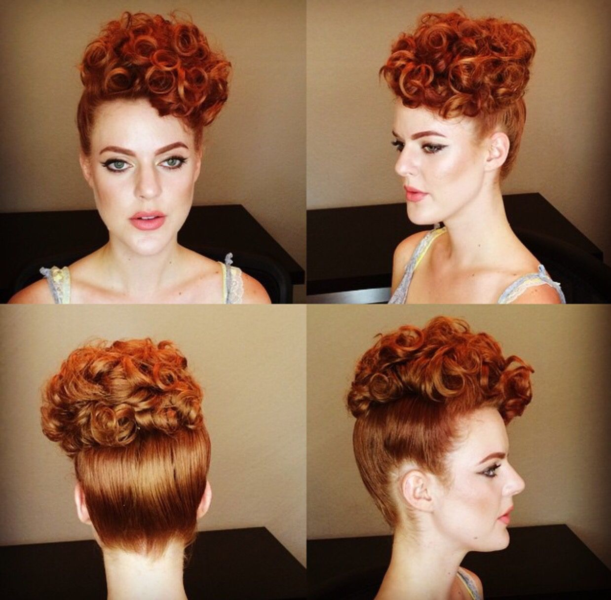 Poodle Hairstyle Done By Miss Rockabilly Ruby Vintage Hairstyles Poodle Hair Hair Styles