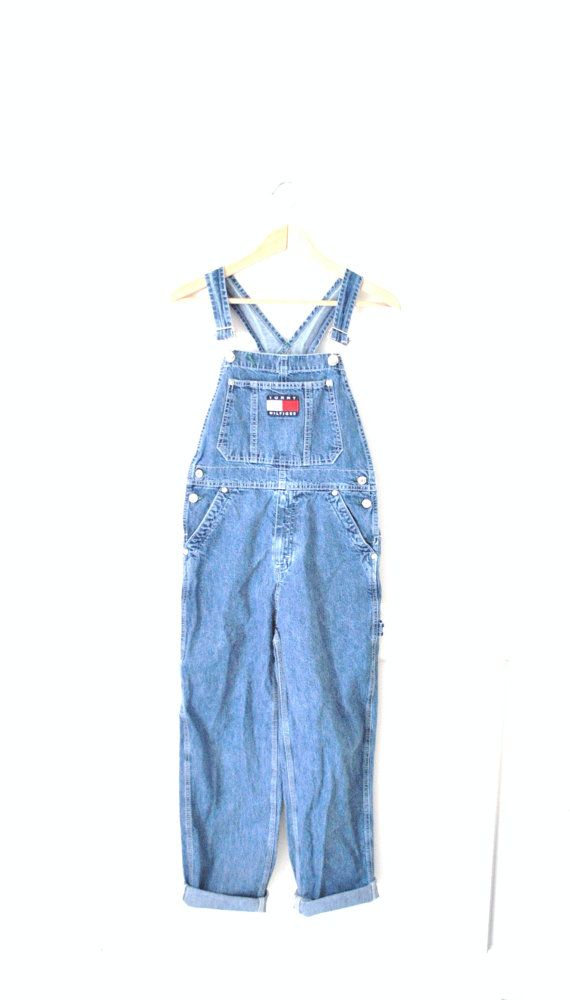 61a55167 90s TOMMY HILFIGER overalls / grunge denim by onefortynine on Etsy, $69.00
