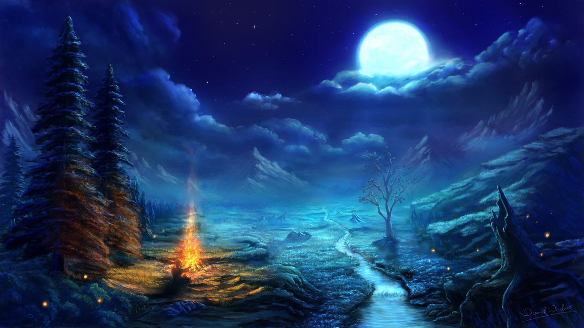Anime Night Scene Wallpaper Amazing Resolution o3306r3s