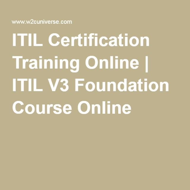 Itil Certification Training Online Itil V3 Foundation Course
