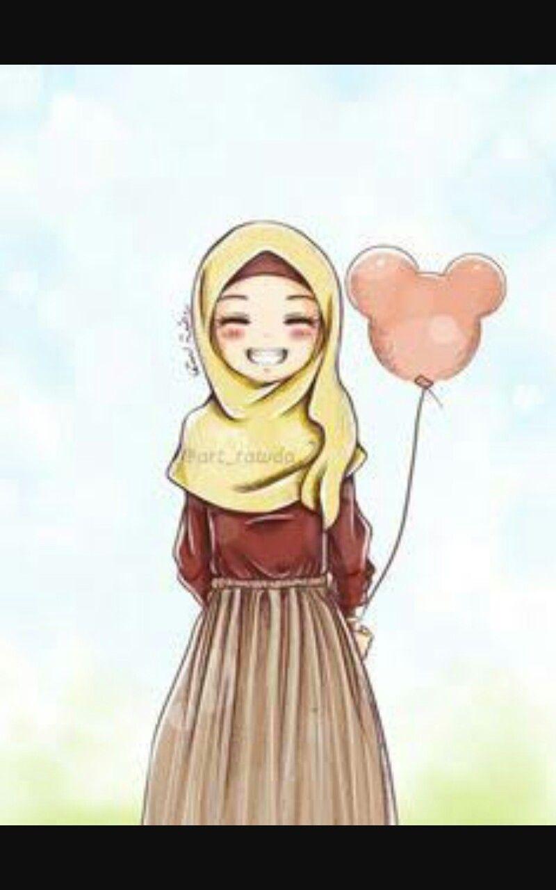 Pin By Nurhidayh Abd On Animasyoncuk Anime Muslimah Anime Muslim Hijab Cartoon