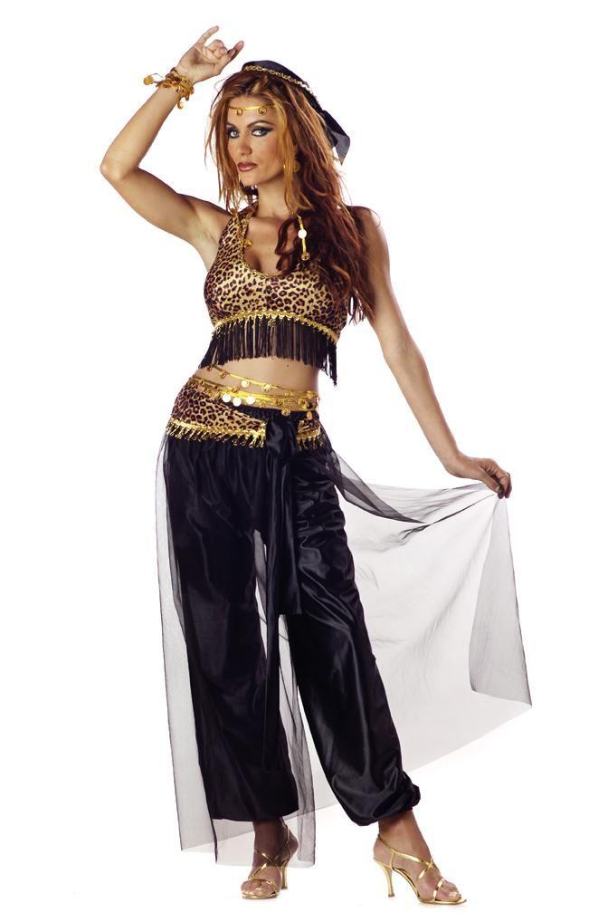 cf3a9424d Seductive Harem Gypsy Exotic Belly Dancer Halloween Costume Adult Women |  eBay
