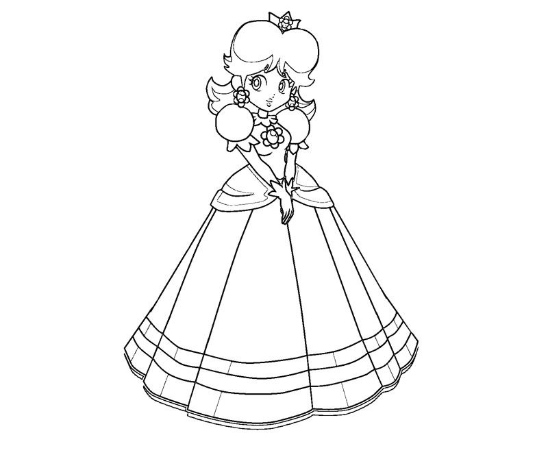 super paper mario daisy coloring pages for girls google search shayla 39 s stuff mario. Black Bedroom Furniture Sets. Home Design Ideas