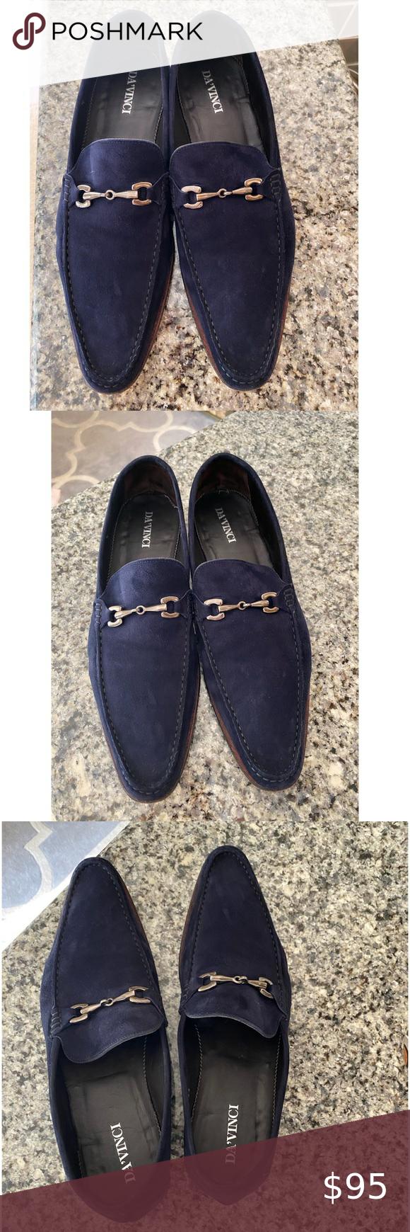 DaVinci Suede-leather loafers dress