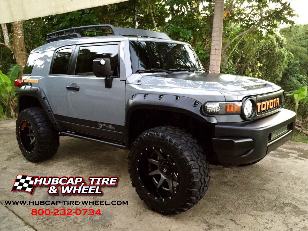 "2013 Toyota FJ Cruiser (3"" Lift) – 20×12 Fuel Rampage Wheels - Go to the  blog post to get all the specs for wheels and tires."