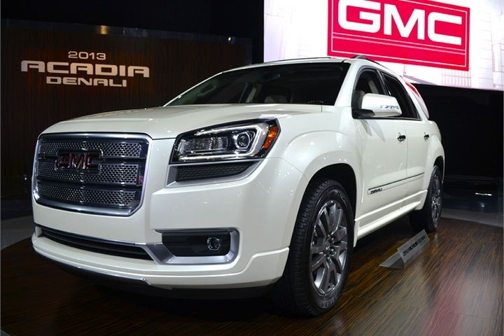 The 2013 Gmc Acadia And Acadia Denali Shown Here Feature New