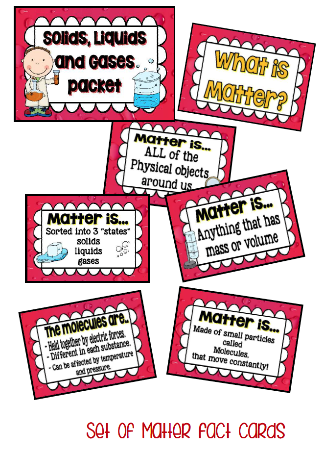 Printable Worksheets state of matter worksheets : A great Packet to support your teaching of Matter – solids liquids ...