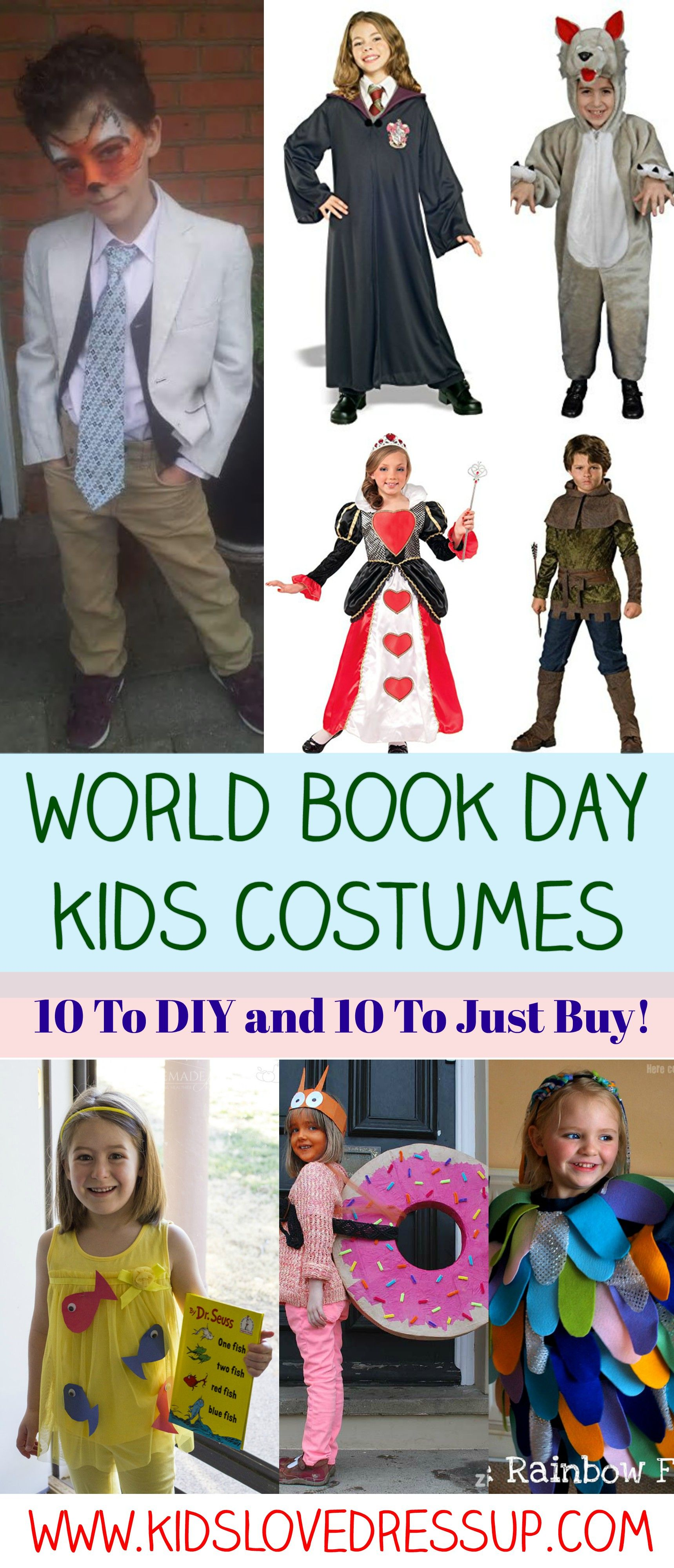 World Book Day Kids Costumes Are You Going To Diy One Or Just Buy One Book Character Costumes Childrens Book Character Costumes Boys Book Character Costumes
