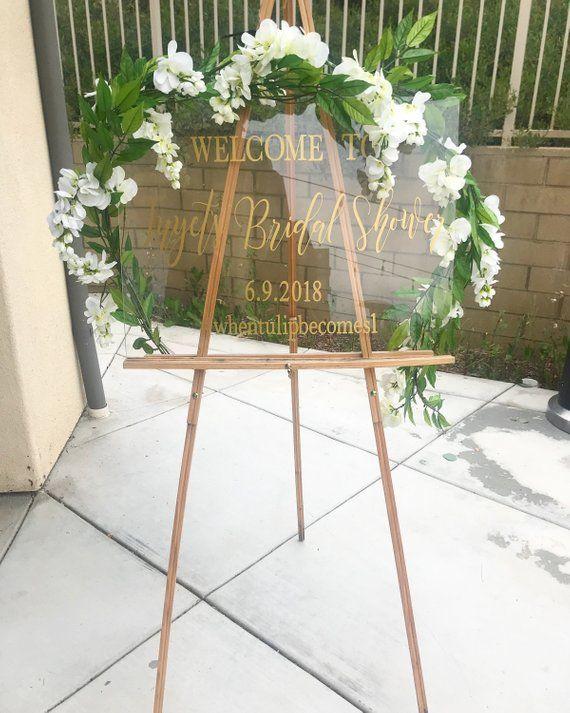 Acrylic welcome sign, custom acrylic sign, custom welcome sign, bridal shower welcome sign, bridal shower decor, wedding welcome sign #weddingwelcomesign