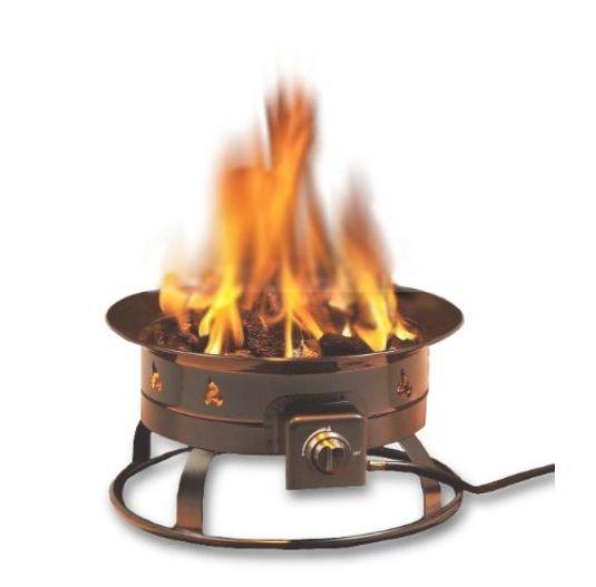 Fire Pit Fireplace Outdoor Patio Backyard Heater Firepit Propane Gas Deck Garden