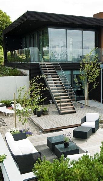 World Of Architecture Modern Beach House With Minimalist Interior Design Sweden Worldofarchi Archi Modern Beach House Modern House Design Exterior Design