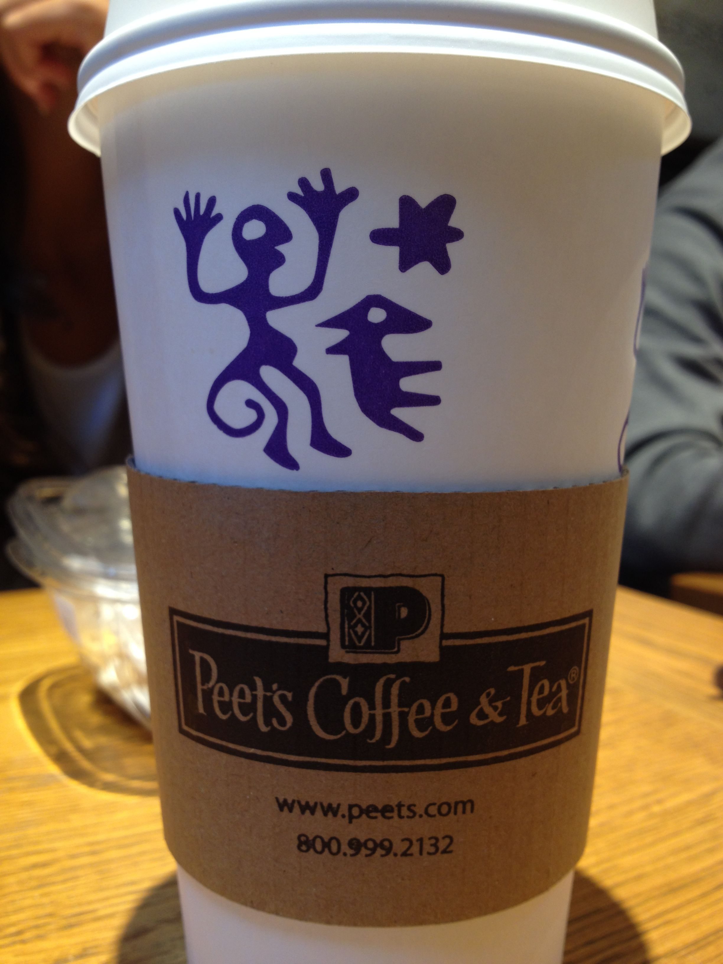 Peet's Coffee with a little design.