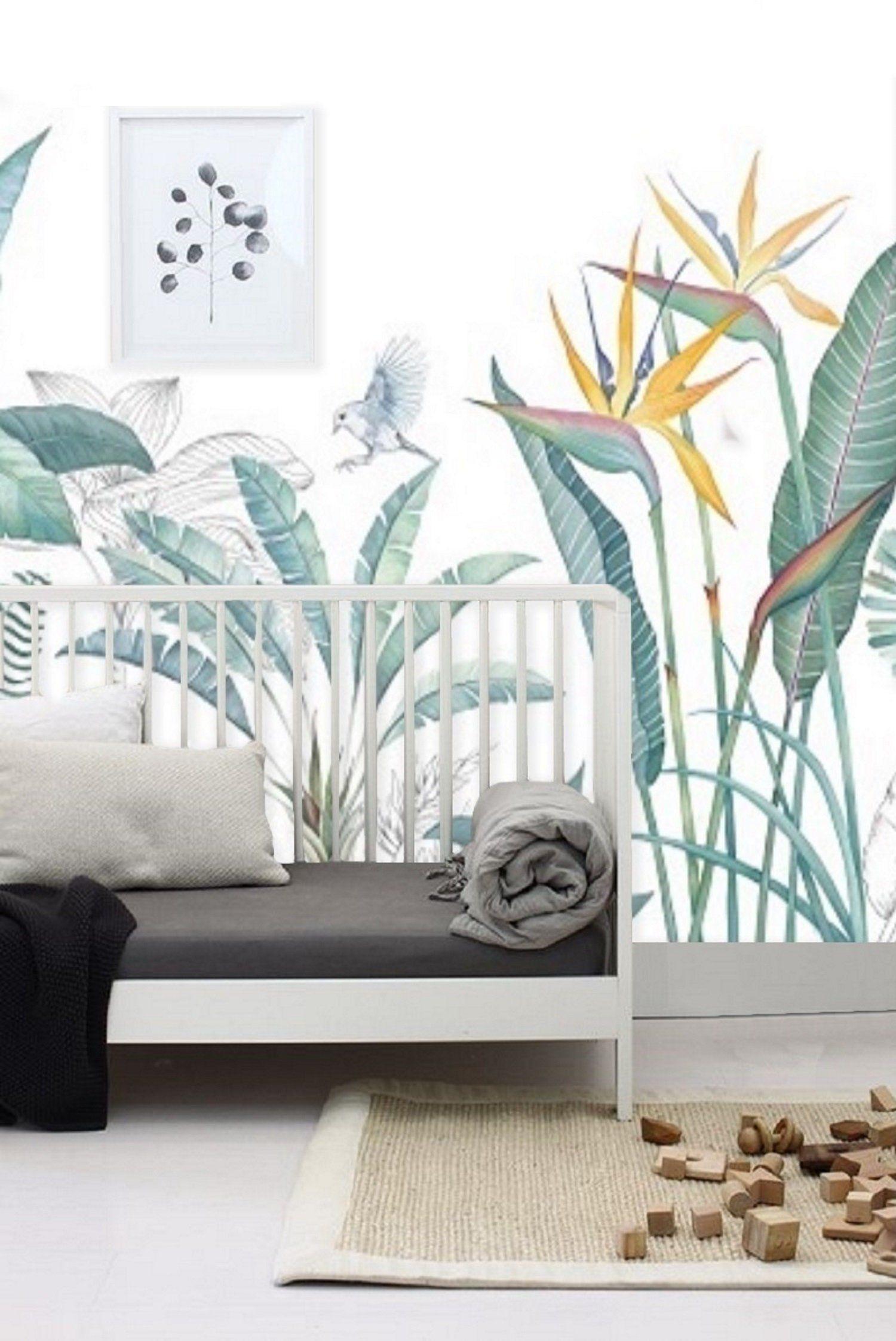 Peel N Stick Wall Paper Jungle Mural Removable Wallpaper Nursery