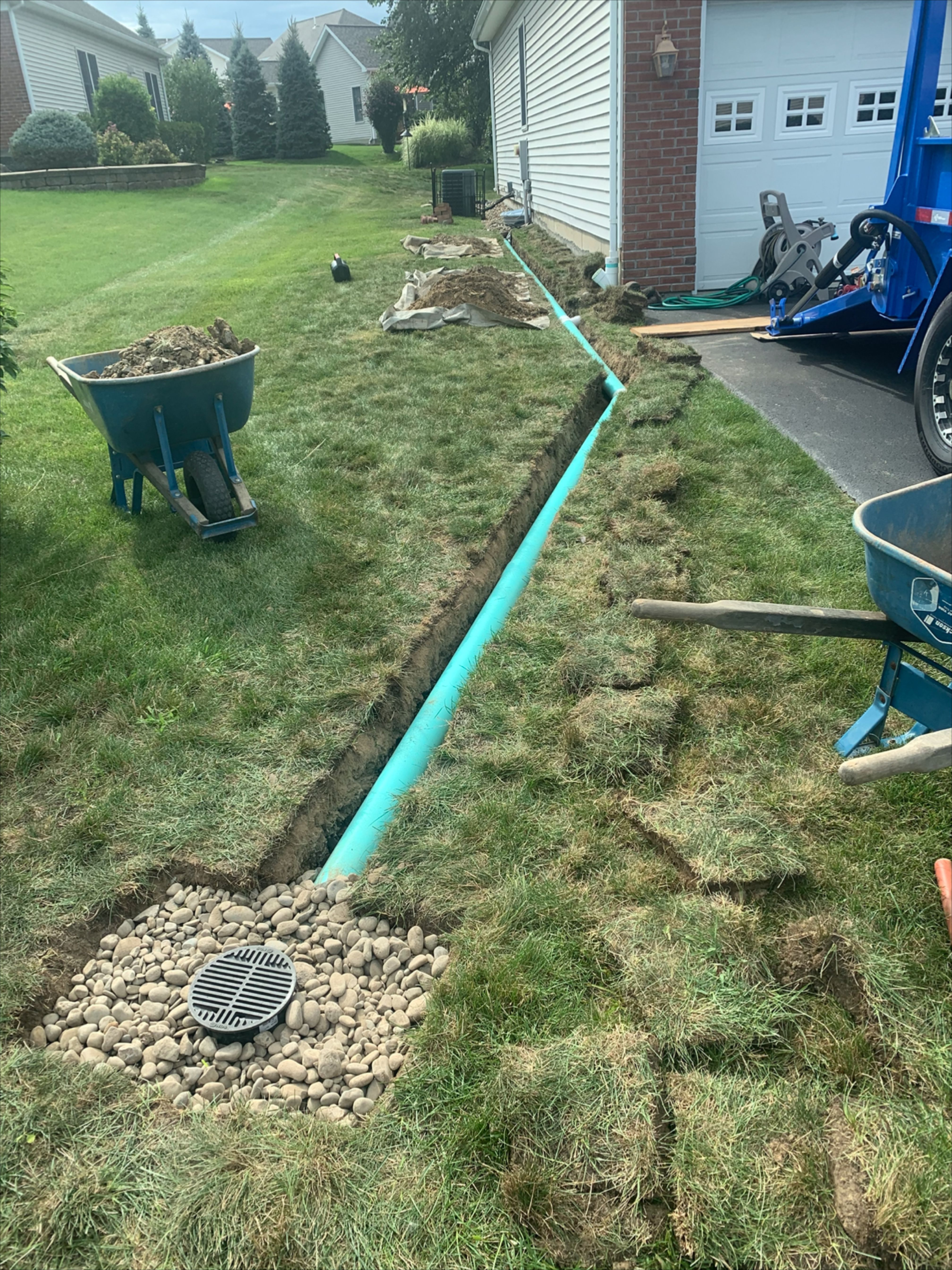 Draining Water from French Drain and Gutter Downspout to a ...