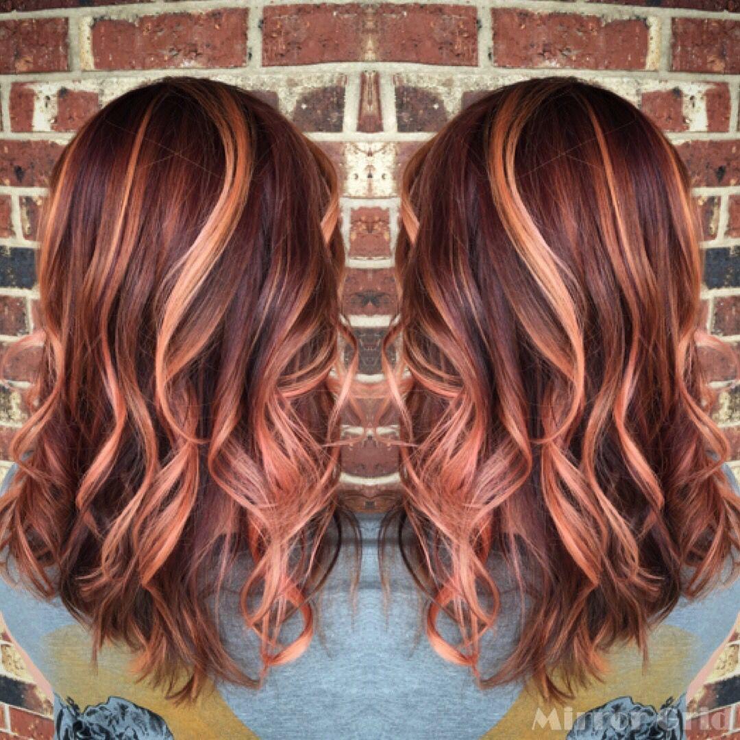 Rose gold hair, sherbet colored hair