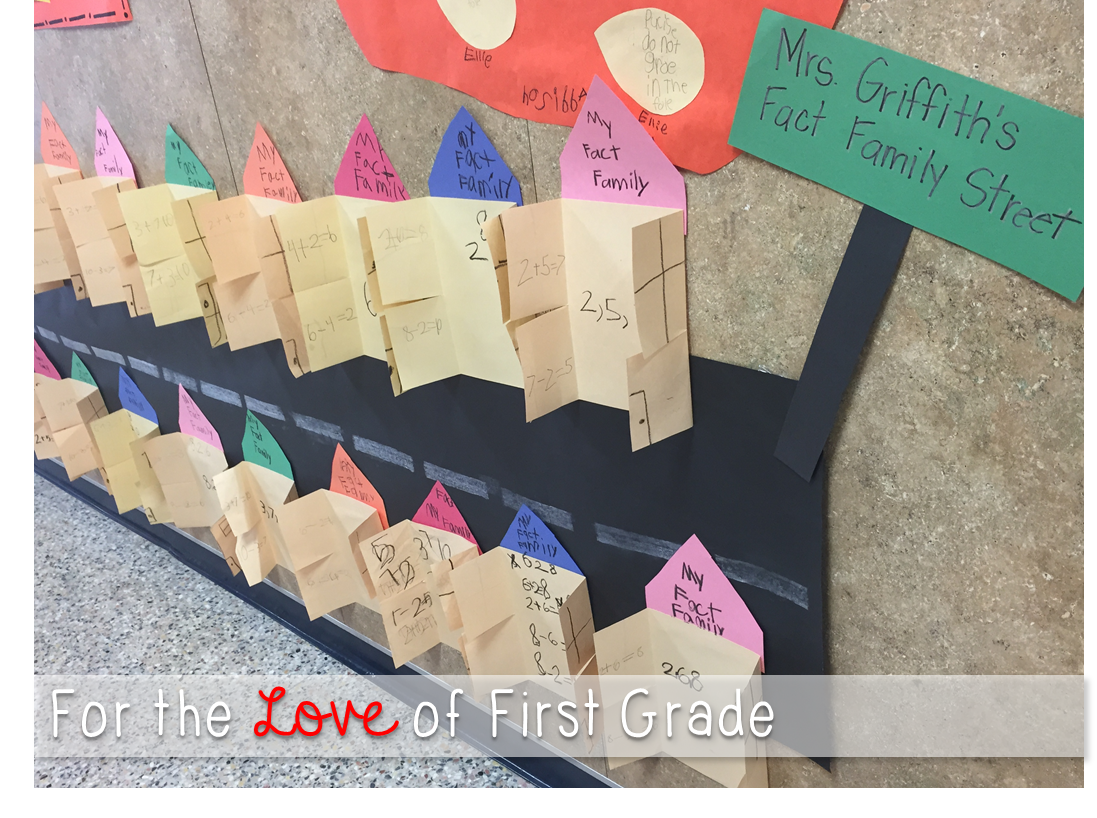 For The Love Of First Grade Fact Family Street