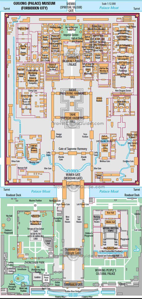 Beijing Forbidden City Palace Museum Map Forbidden city