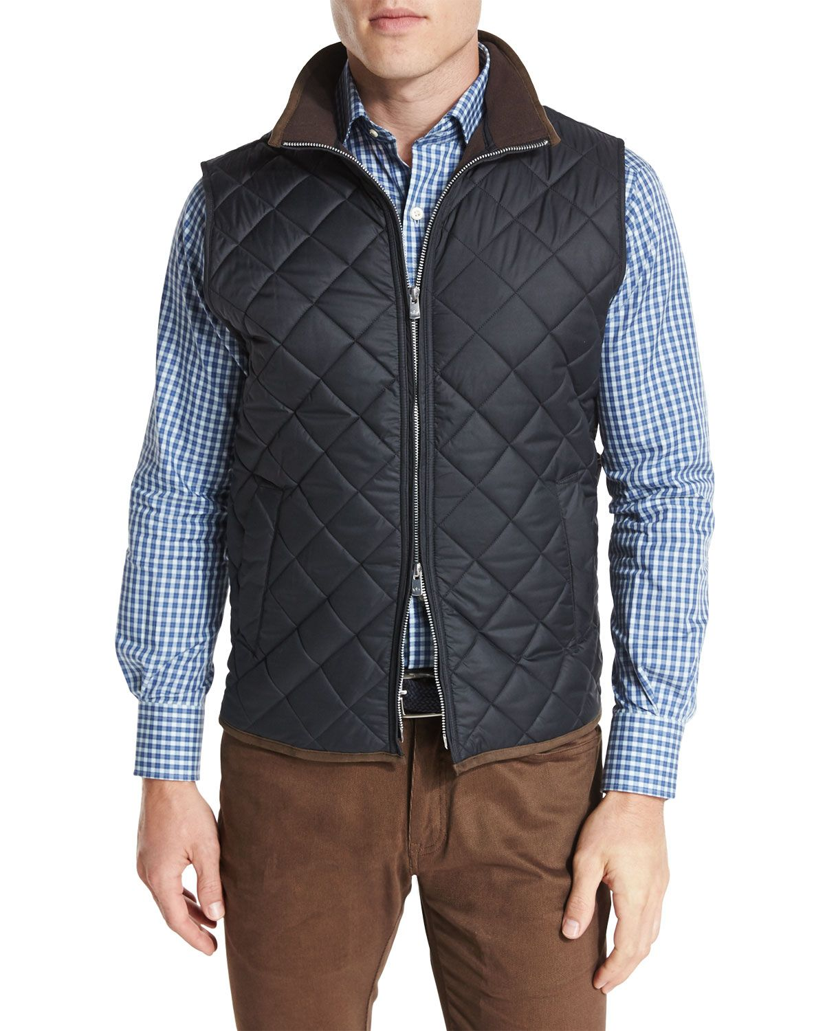 Peter Millar Hudson Lightweight Quilted Vest, Black