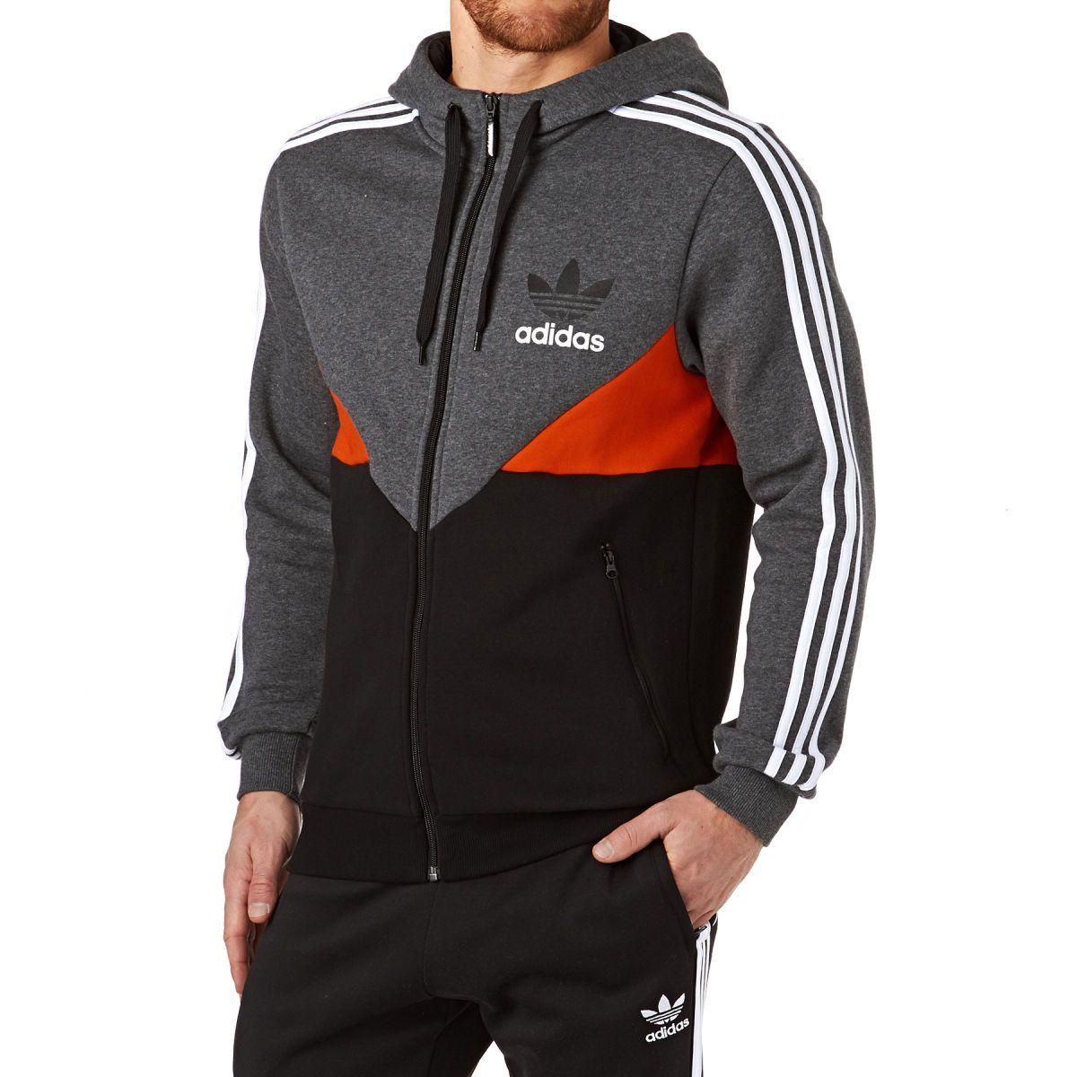 Adidas Originals Colorado Zip Hoody Dark Grey Heather Blackpink Fashion Clothes Adidas Sweater [ 1200 x 1200 Pixel ]