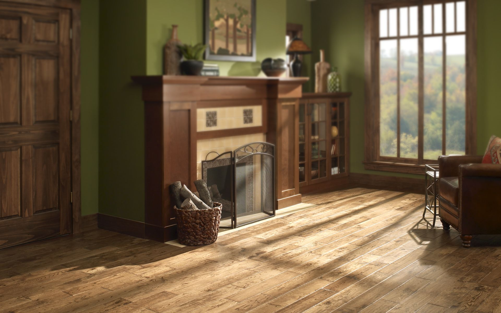 Our Texas Oak Colors Have Natural Characteristics Such As Knots Handscraped Hardwood Floors Handscraped Hardwood Rustic Flooring