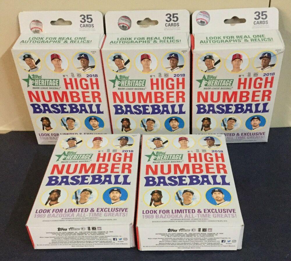 2018 Topps Heritage High Number Baseball Hanger Box Lot Of