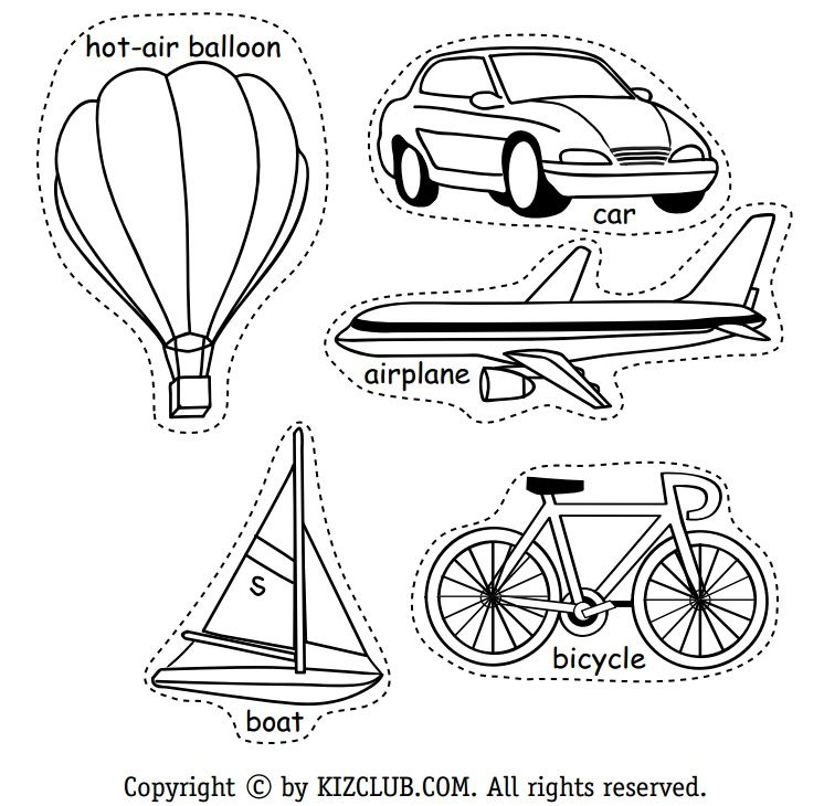 Resultado de imagen para dibujo de los medios de transporte para ...