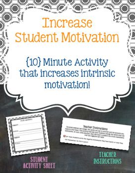 Increase Intrinsic Student Motivation Activity Motivational