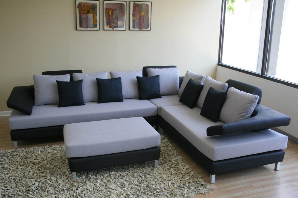 Awesome Black Sofas For Modern Living Room Interior : Cozy Living Room Atmopshere  With Black Sofas Design Idea Equipped With Wooden Flooring With Gr. Awesome Ideas