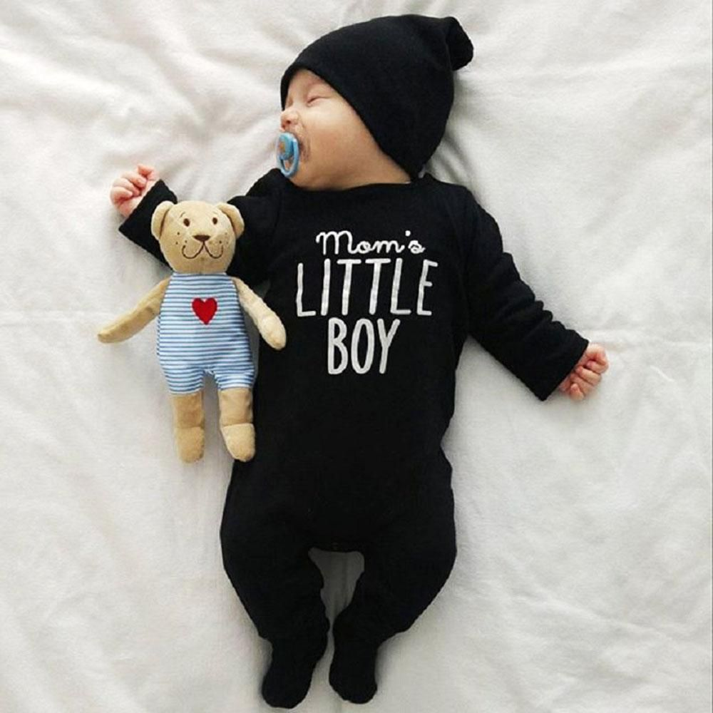 53dbb6d9f Brand New Fashion Newborn Toddler Infant Baby Boys Romper Long Sleeve  Jumpsuit Playsuit Little Boy Outfits